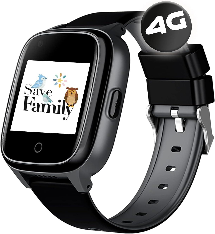 SaveFamily Senior. Reloj-Localizador con GPS para Personas Mayores. Llamadas, Aviso de caída, Botón de Emergencia, Recordatorio medicamentos, Frecuencia cardíaca, Podómetro. App Propia SaveFamily