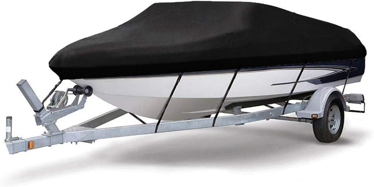 /étanche tissu Oxford de qualit/é marine 210D r/ésistant aux UV Honeyhouse Housse de bateau pour remorque robuste compatible avec V-Hull Runabout Bateau hors-bord P/êche Ski Bateau