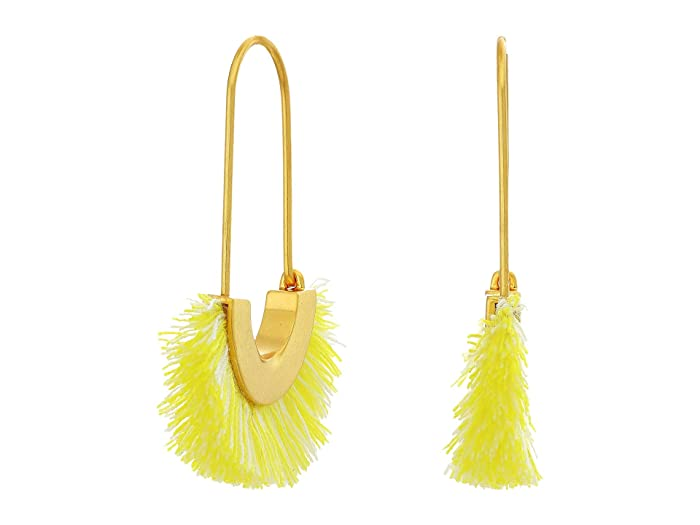 Madewell  Arc Wire Fringe Earrings (Citron Mixed Marle) Earring