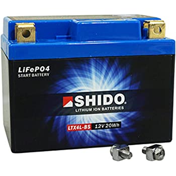 Type//–/Replaces 7L BS Sealed//Maintenance-Free Motorcycle Battery 12/V 7Ah AGM IONI Ion