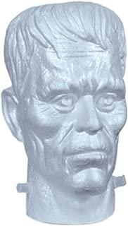FloraCraft EPS Foam Frankenstein Head 6 Inch x 6.6 Inch x 9.6 Inch White