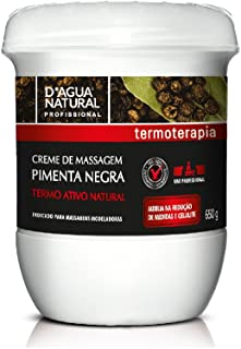 Creme de Massagem Pimenta Negra, D'agua Natural, 650 g