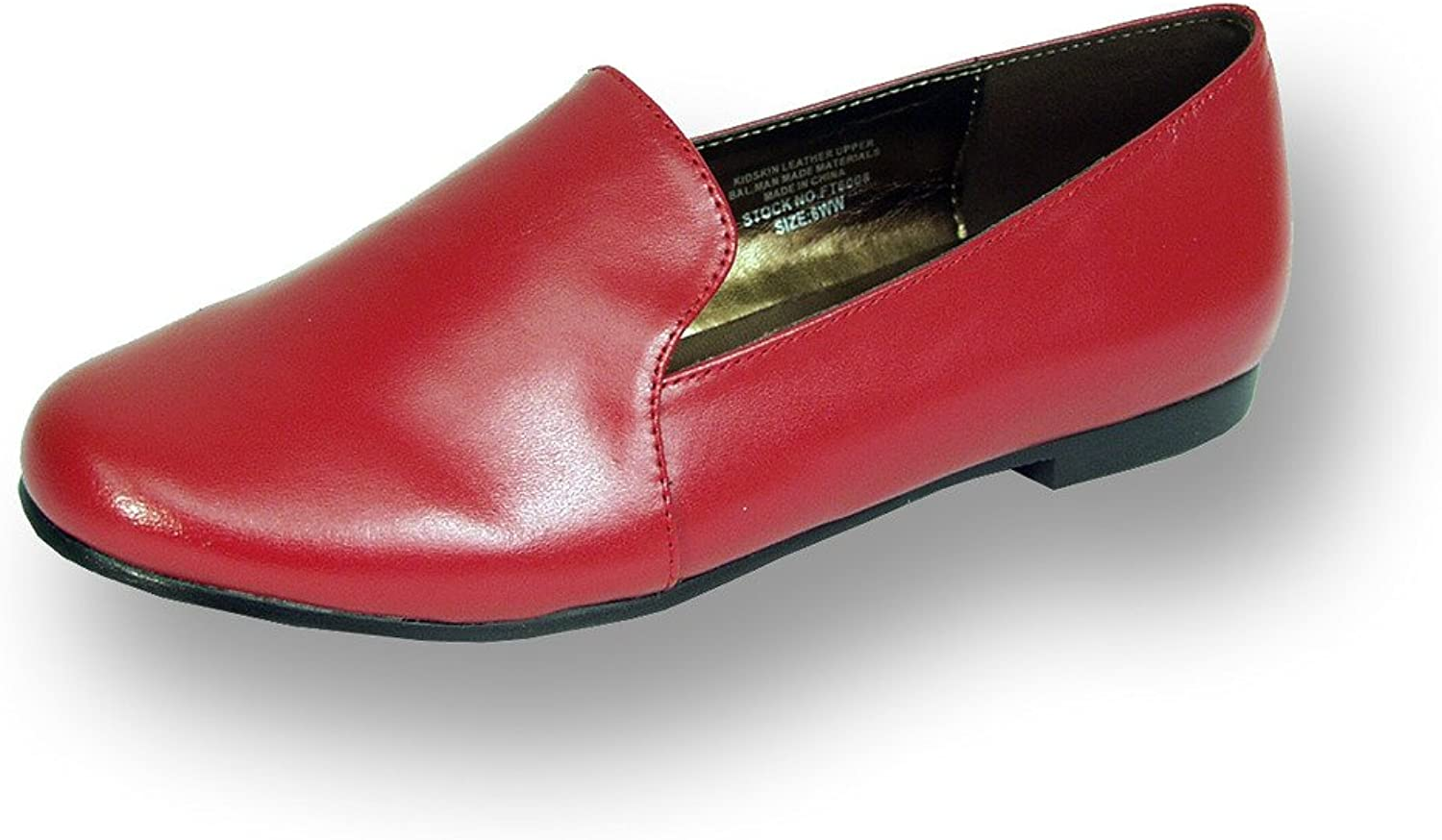 Peerage FIC Charlie Women Wide Width Leather Flat for Everyday Life (Size & Measurement Guides Available)