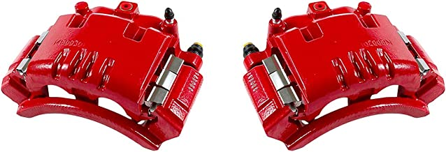 CCK02499 [ 2 ] REAR Performance Grade Red Powder Coated Semi-Loaded Caliper Assembly Pair Set