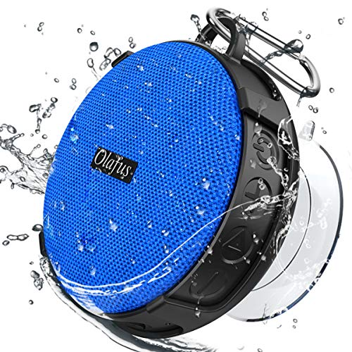 Olafus Shower Speaker, IPX7 Waterproof Bluetooth Speaker, Portable Wireless Bathroom Speakers with Detachable Suction Cup, HD Sound, 10H Playtime, Bluetooth5.0, Built-in Mic for Outdoor, Beach, Travel