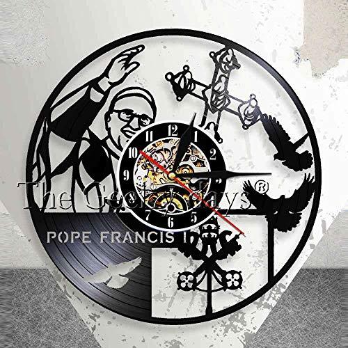 Reloj de pared católico de la celebridad religiosa Papa Francisco Rel