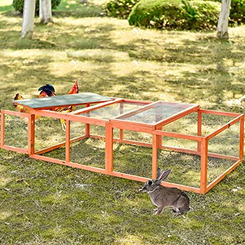 Lazyspace - Gabbia per conigli, in legno, per esterni, per la casa, per tartarughe, casa di anatra, gabbia per porcellini d'india, per animali di piccola taglia