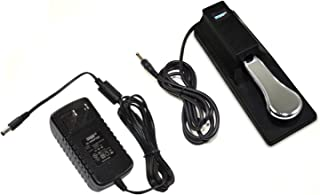 HQRP AC Adapter & Sustain Pedal for Yamaha PSR-E203 YPT-200 YPT-210 YPT-220 PSR-E313 DGX-200 DGX-300 DGX-500 PSR-195 PSR-225 PSR-240 PSR-248 PSR-E213 PSR-E223 PSR-E323 PSR-260 PSR-273 Keyboards