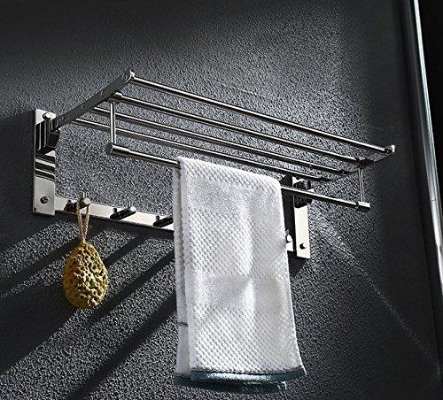 YSMAGSI Doblado de Acero Inoxidable Parrilla baño baño Estante Grueso Toalla Toalla Estante baño Hardware Accesorios toallero