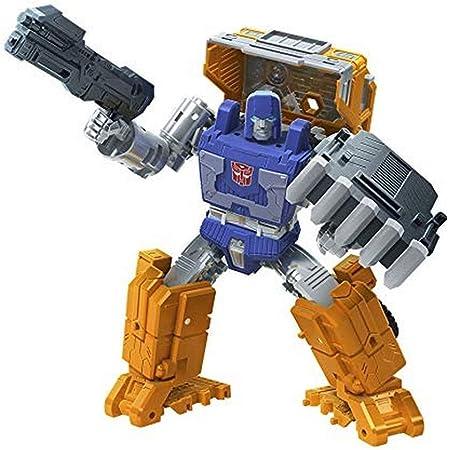 Transformers Toys Generations War for Cybertron: Kingdom Deluxe WFC-K16 Huffer Figura de acción - Niños de 8 años en adelante, 5.5 Pulgadas