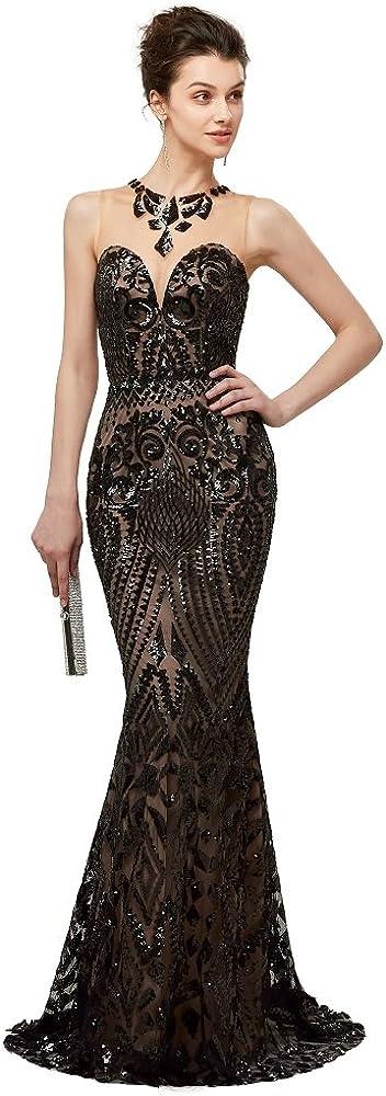 Leyidress Women's Mermaid Dress Bridesmaid Dress Evening Dress Party Prom Gown