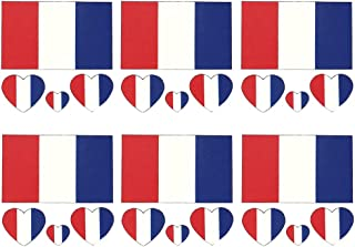 Daqin French Flag Tattoo Stickers Waterproof Tattoo Stickers Sweat-proof Facial Stickers Stickers Party Decorations 6 Sets (Color : Flag of France)