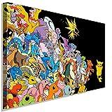 Impression sur toile Pokémon 1ère génération AK Art - Décoration murale TOP XXL (40 x 30 cm)