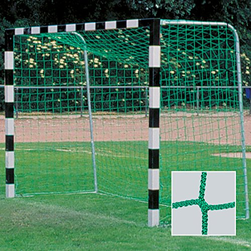 DONET Handballtornetz/Kleinfeld 3,1 x 2,1 m Tiefe Oben 0,80 / unten 1,00 m, PP 4 mm ø, grün