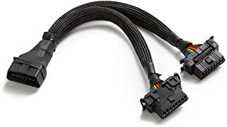 bbfly-B6 OBD II OBD2 16 Pin Splitter Extension 1x Male and 2X Female Extension Cable Adapter 1FT/30CM