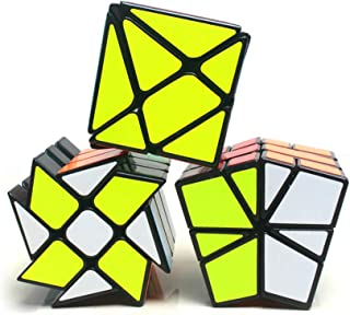 風の翼 - スピード不規則マジックキューブ YongJun Fisher、ウィンドホイール、Kingkong Cube Puzzle (3点セット)