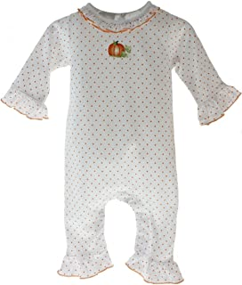 Baby Girls Pumpkin Romper Cotton Playsuit Halloween Thanksgiving