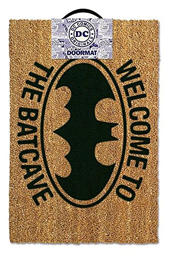 DONREGALOWEB Felpudo Welcome to The Batcave Fibra de Coco 60x40 cm Original