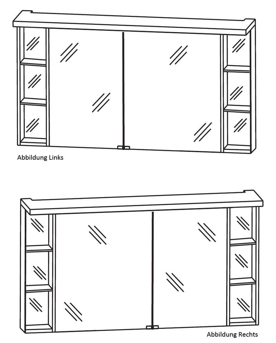 PURIS Business-Coffee Crescendo 2D de Armario con Espejo (s2 a431226l/R) de Muebles de baño, 120 cm: Amazon.es: Hogar