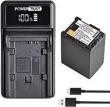 PowerTrust BP-827 BP827 827 Battery LED USB Charger for Canon VIXIA G10  G20  M30  M31  M32  M40  M41  M300  M400  S10  S11  S20  S21  S30  S100