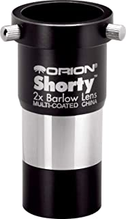 Orion 08711 Shorty 1.25-Inch 2x Barlow Lens (Black)