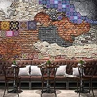 QQYYYT ウォールアートポスター-3Dレトロノスタルジックアートブリック3Dリビングルームダイニングルーム背景水分壁紙ポスター壁装飾絵画