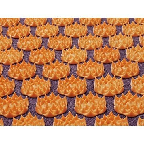 Tapis d'acupression Champ de Fleurs - Soulage les douleurs de dos naturellement (Mauve - Orange)