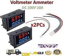 Volt/ímetro digital para coche Nysunshine 12 a 24 V, pantalla LCD, medidor de temperatura del agua