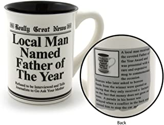 """Our Name is Mud """"Father of the Year"""" Stoneware Mug, 16 oz."""
