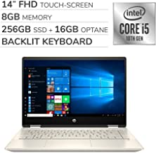 $629 » HP Pavilion x360 2-in-1 2019 14'' FHD Touch Screen Laptop Notebook Computer,Intel 4-Core i5-10210U 1.60 GHz, 8GB RAM,256GB SSD+16GB Optane,Backlit Keyboard,No DVD,Wi-Fi,Bluetooth,Webcam,HDMI,Win 10