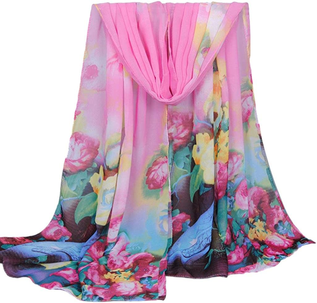 Scarves,lookatool Fashion Women Long Soft Wrap picture Ladies Shawl Chiffon Beach