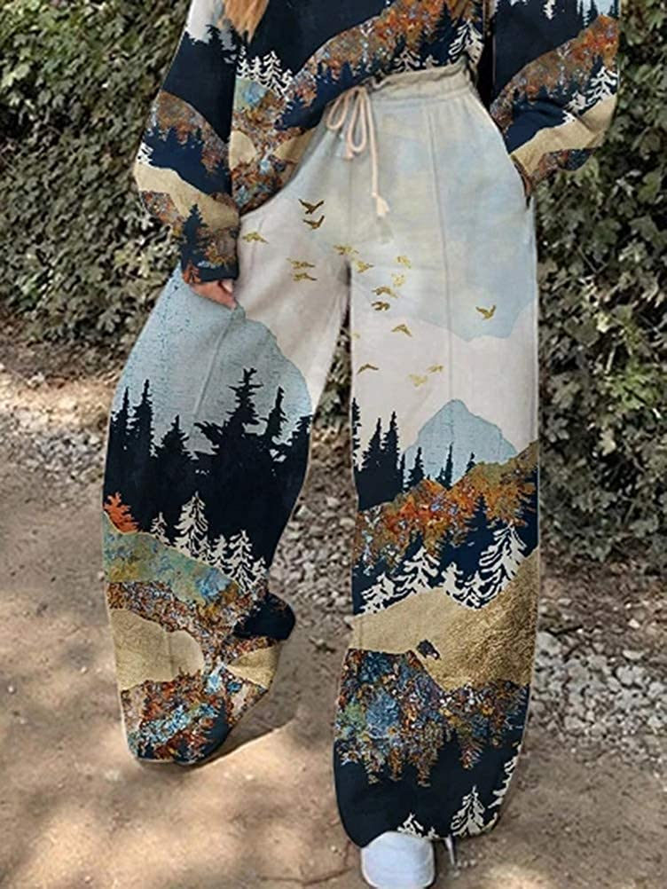 Pantalons Longues Imprim/é Papillon 2 Pi/èce Surv/êtement Onsoyours Femmes Surv/êtement Ensemble Sportswear Sweat Manches Longues Imprim/é Shirt Tops