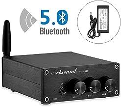 Nobsound 2 Channel Bluetooth 5.0 Amplifier , Class D Stereo Audio Amplifier , Mini Home Theater Power Amp , Digital Power Amplifier Receiver , 200W , Treble & Bass Control (NS-15G PRO)