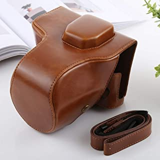 18-55mm // 18-105mm // 18-140mm Lens YANTAIANJANE Camera Accessories Full Body Camera PU Leather Case Bag for Nikon D5300 // D5200 // D5100 Black Color : Brown