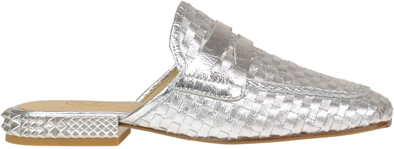 ASH Damen MCGLCAB000005081E Silber Silber Leder Mokassins  Werbeartikel