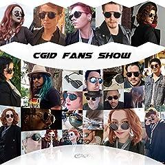 Polarised Sunglasses for Women Men Steampunk Retro Round Unisex Eyewear Glasses UV400,2020 New Trendy Side Shield Goggles Gothic Sun Gasses Silver Frame Blue Mirrored Lens CGID #1