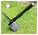 supervivencia cuchillo de camping Jardín Camping Pequeña pala plegable Pala de acero de acero de manganeso multifuncional Pala portátil puede ser usado HOE Pick Herramientas Spade pala detectora de me