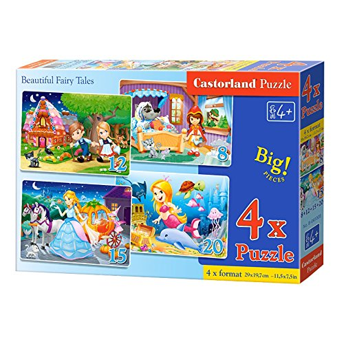 Castorland B-041008 Beautiful Fairy Tales Puzzle, 55 Teile