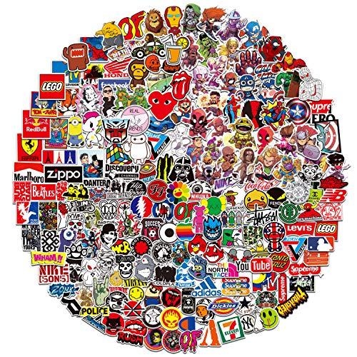 Stickers Pack(400pcs)Funny Aufkleber für Laptops, Aufkleber für Laptops, wasserdicht, ästhetisch, Trendige Stickers Abziehbilder für Jugendliche, Wasserflaschen Reisetasche Aufkleber Tür Laptop Laptop