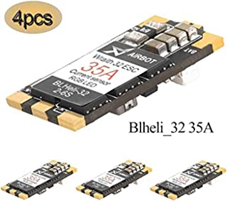 Crazepony 4PCS ESC 35A BLHeli_32 Wraith32 32bit + On-Board RGB LED DSHOT1200 Electronic Speed Controller Support 2-6S for FPV Racing Drone Quadcopter