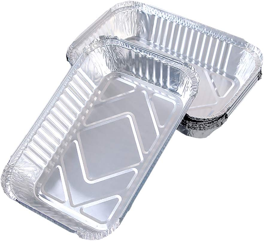 GSHLLO 10 Max 44% OFF PCS Rectangle Disposable Foil Regular dealer Containe Trays Aluminium