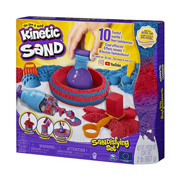 Kinetic-Sand-Sandisfying-Set-con-907-G-di-Sabbia-e-10-Accessori-Sabbia-Modellabile-dai-3-Anni