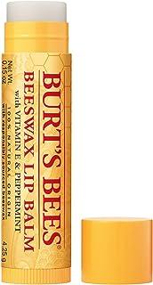 Burt's Bees 100% Natural Origin Moisturizing Lip Balm, Original Beeswax with Vitamin E & Peppermint Oil 0.15 Ounce Tube