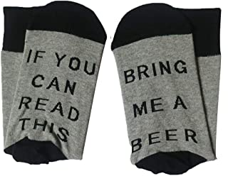 GuGio IF YOU CAN READ THIS Funny Saying Cotton Crew Wine Coffee Beer Socks for Men Women