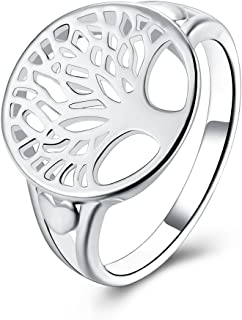 Godyce Tree of Life Ring Sterling Silver Plated for Women Girl Jewelry Size 6//7//8//9 with Gift Box