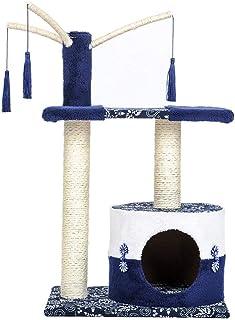 Asdfnfa Pet Bed, Cat Climbing Frame Detachable Cat Litter Box Tree Hole Cat House Cat Scratch Board Cat Scratching Column ...