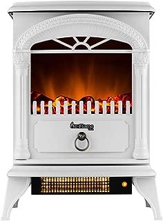 e-Flame USA Hamilton Free Standing Electric Fireplace (White)