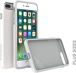 RhinoShield Case for iPhone 8 Plus/iPhone 7 Plus [PlayProof]   Heavy Duty Shock Absorbent [High Durability] Scratch Resistant. Ultra Thin. 11ft Drop Protection Rugged Cover - White