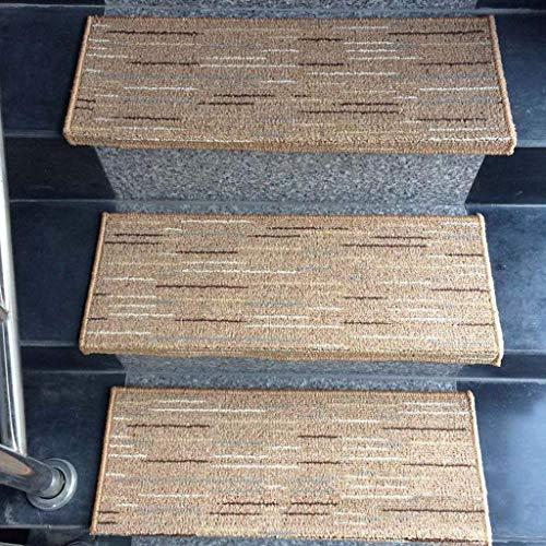 Escaleras de baldosas de cerámica de mármol Alfombra de escaleras dedicada / (Beige, Azul, Marrón, Gris) Alfombra Peldaños de escalera Antideslizante - Alfombras de alfombra de escalera interior y ext