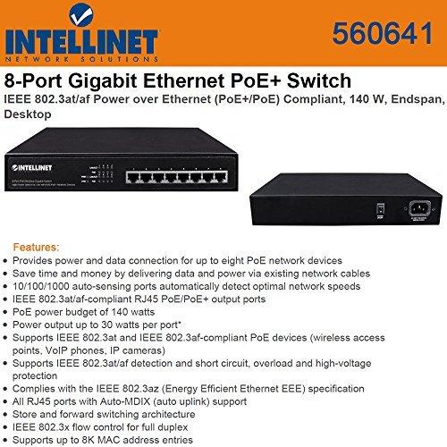 Intellinet 560641 8 Port Gigabit Switch all POE+ Desk (ITL-560641)